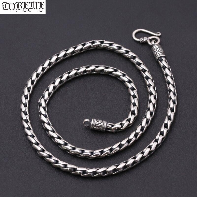 Collier fabriqué à la main en thaïlande 925 collier en argent fait à la main en argent Sterling Vintage pour pendentifs