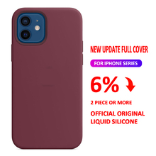 WITH BOX Original Liquid Silicone Case For iPhone 11 12 pro XS Max XR X Cases for iPhone 7 8 plus 6 6S SE 2020 Full Cover