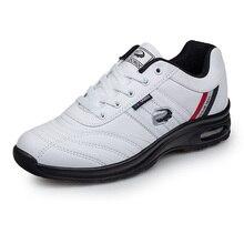 Качественная мужская обувь для гольфа; Мужская водонепроницаемая прогулочная обувь из искусственной кожи; цвет черный, белый; мужские дизайнерские спортивные кроссовки для гольфа; большие размеры