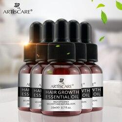 ARTISCARE Hair Growth Essential Oil Hair Care Treatment For Men And Women Hair Loss Essence Liquid Repair Hair Root 20ml 5PCS