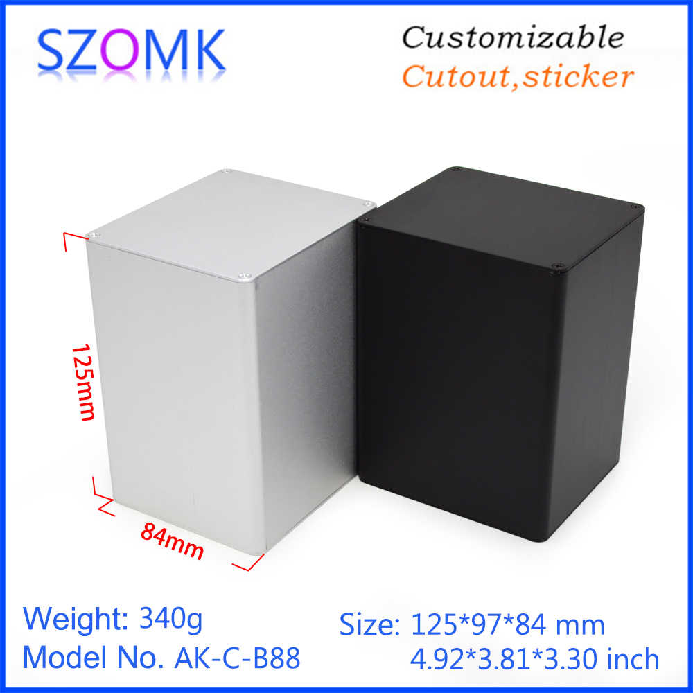 10 個 84*97*125 ミリメートル szomk アルミケース電子 pcb デザインアルミプロファイル押出接続ハウジングデバイス