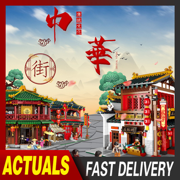 XingBao Creator City Street Series Ancient Chinese Architecture Model The Tea House Building Blocks Educational Kids Toys Bricks lepin 17007 lepin creator architecture the robie house set legoing 21010 legoing creator architecture building block bricks toys
