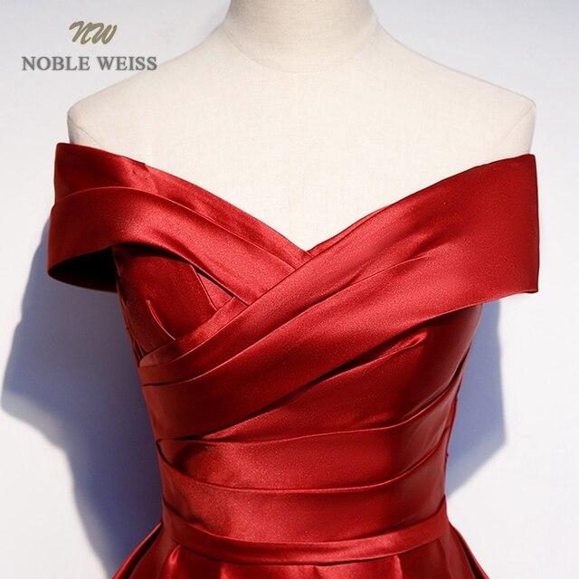 Long Prom Dresses V-Neck Off The Shoulder A-Line Floor-Length Satin Dress Prom Prom Long Elegant Dresses 5