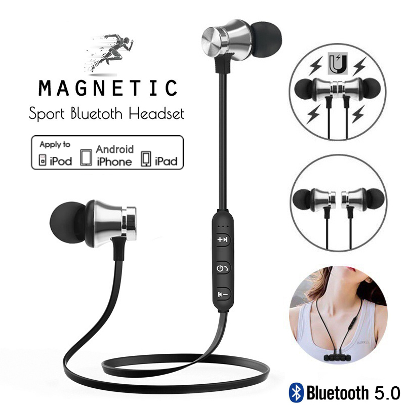 KUGE Bluetooth Earphone Sport Magnetic V4.2 Stereo Sports Waterproof Earbuds Wireless In-ear Headset With Mic For IPhone Samsun