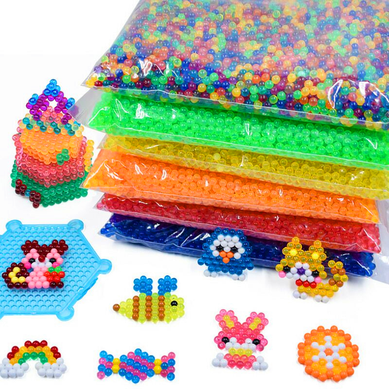 Water Mist Beads 6000pcs/bag Pegboard Sticky Water Beads Jigsaw Puzzle Beadbond Educational Toys DIY Water Kralen Magic Bead