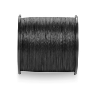 Image 1 - 4 braid never faded black fishing line pe 500m 1000m super strong quality fishing products line wire 4 strands 6 100LBS weaves