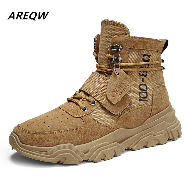Sports Shoes British Wind with Flat Bottom Skid Autumn and Winter Martin Boots 8