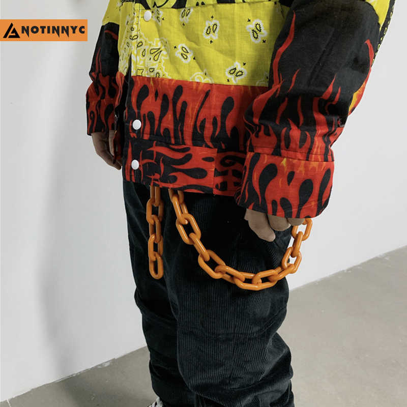 Модные панк хип-хоп модные пояс-цепочка на талию широкие Мужские штаны цепочка на джинсы Панк серебро металл большое кольцо брючные цепи YE63