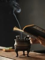 LUWU copper incense coil holders handmade incense holder burner copper incense holder base