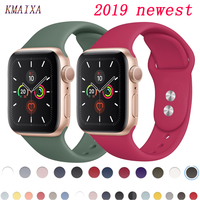 Band for apple watch strap apple watch 5 4 band 44mm iwatch band 42mm correa 38 mm 40mm sport silicone bracelet watchband 4 3 2