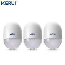 3 sztuk KERUI P829 bezprzewodowy czujnik ruchu czujnik ruchu Pir niski poziom naładowania baterii przypomnienie dla System alarmowy do domu anti sabotaż