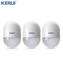 3pcs KERUI P829 אלחוטי Moverment חיישן Pir גלאי תנועה נמוך סוללה תזכורת עבור אבטחת בית אזעקה מערכת אנטי לחבל