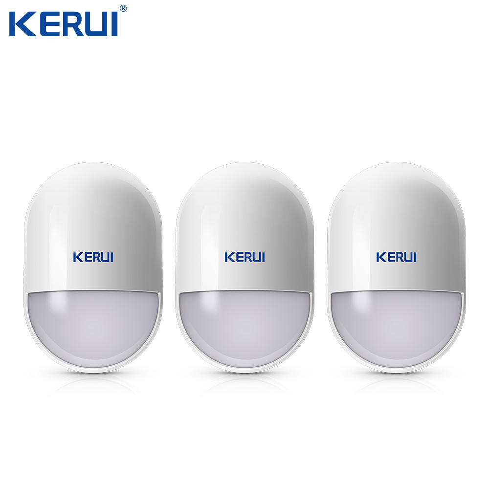 3pcs KERUI P829 Wireless Moverment Sensor Pir Motion Detector Low Battery Reminder For Home Security Alarm System Anti-tamper
