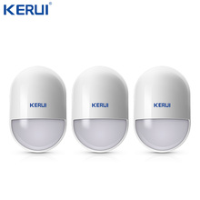 KERUI capteur de mouvement sans fil P829, 3 pièces, détecteur de mouvement Pir, rappel de batterie faible pour système dalarme de sécurité domestique, antibrouilleur