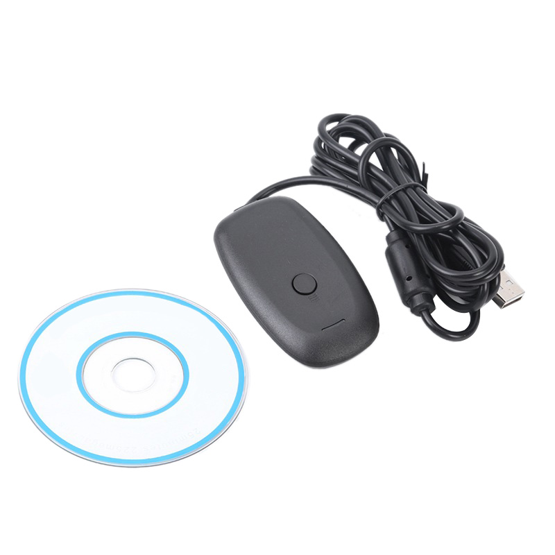 <font><b>Wireless</b></font> Gamepad <font><b>PC</b></font> <font><b>Adapter</b></font> USB Receiver for <font><b>Xbox</b></font> <font><b>360</b></font> Game Console <font><b>Controller</b></font> Gaming USB <font><b>PC</b></font> Receiver with CD image