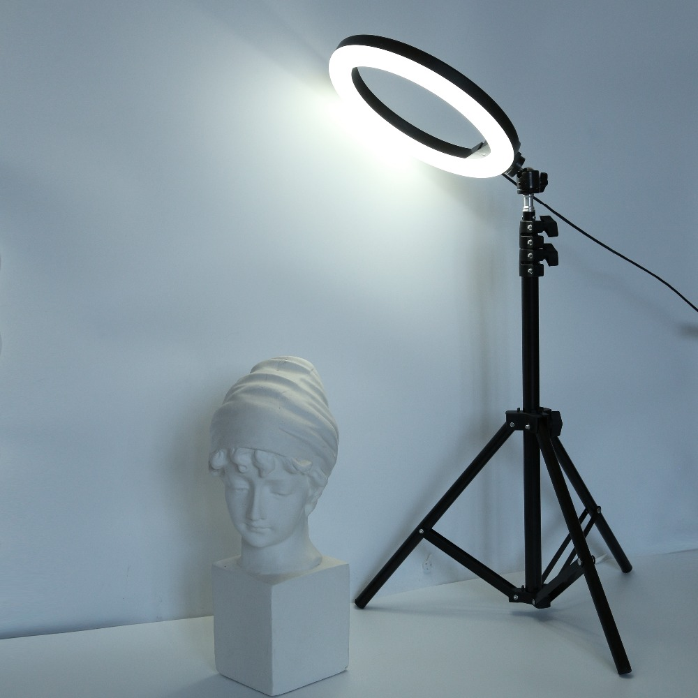 H297b6957af284697999c98216844c870o 26cm 33cm RGB Selfie Ring LED Light with Stand Tripod Photography Studio Ring Lamps for Phone TikTok Youtube Makeup Video Vlog