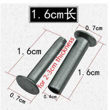 200 компл/лот длина 16 см толщина 2 3 из Нержавеющаясталь заклепки