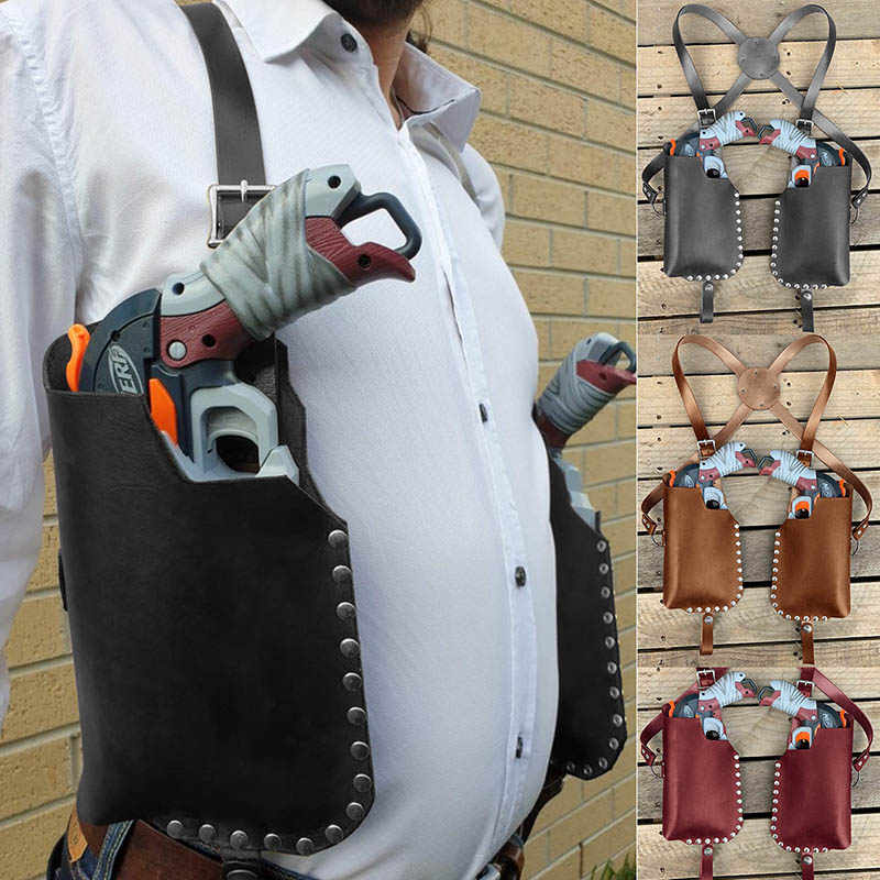 Cavalry Style Leather Nerf Holster DOUBLESTRIKE