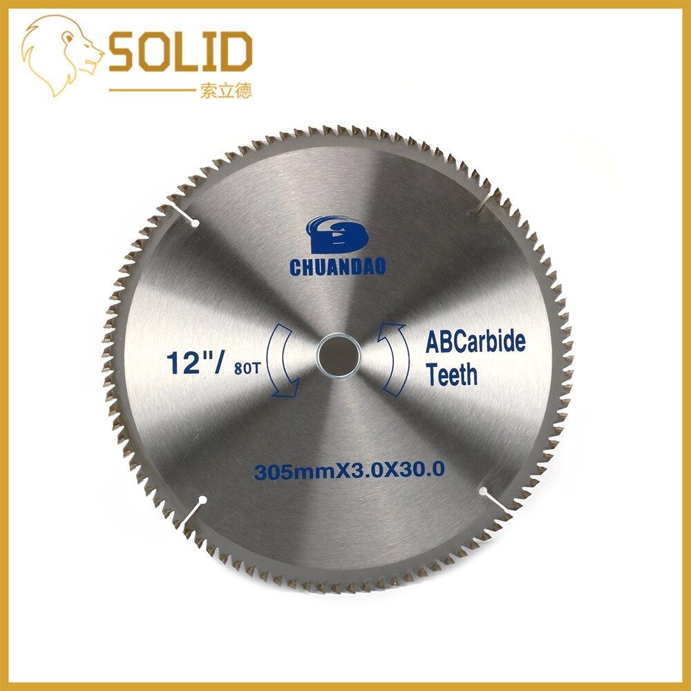 Carbide Circular Saw Blade 205X3.0X30mm For Wood Soft Metal Al-alloy Cutting 80/100/120T