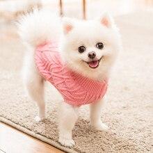 Вязаный свитер для домашних любимцев собак кошек, куртки для домашних животных, жилет, одежда для кошек, щенков, пальто, одежда, зимний теплый мягкий костюм, одежда унисекс