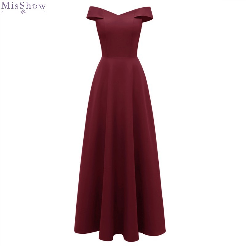 Burgundy Cocktail Dresses 2019 A Line Elegant Long Formal Party Dress Sleeveless Coctail Dress Vestido Robe Cocktail