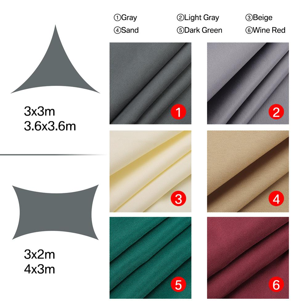 Waterproof Sun Shelter Sunshade Protection Shade Sail Awning Camping Shade Cloth Large For Outdoor Canopy Garden Patio 40%OFF 3