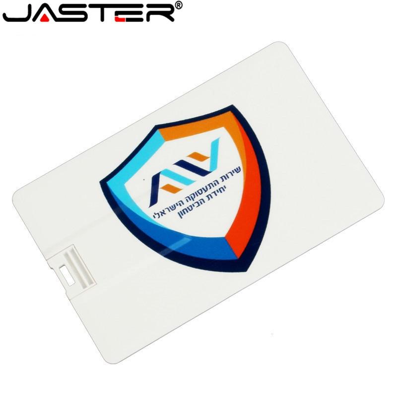 JASTER 10PCS Free Color Printing Logo Mini Card Bank Card USB 4GB 16GB 32GB 64GB External Storage Photography Wedding Gift