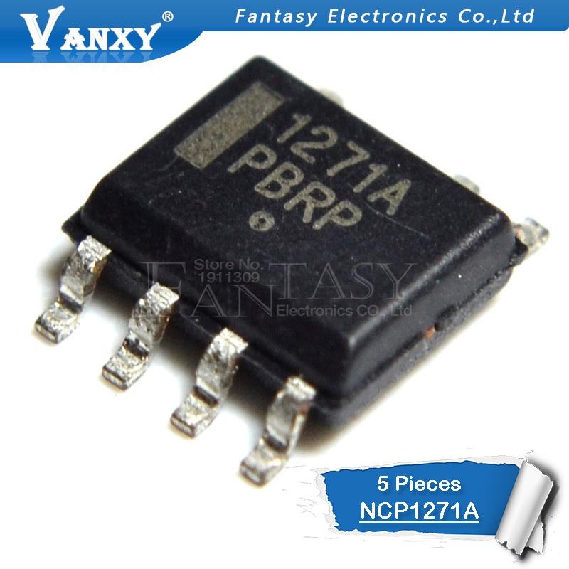 5pcs NCP1271 SOP8 NCP1271A SOP NCP1271ADR2G SOP-8 1271A SMD