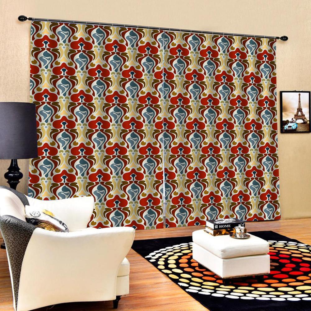 Blackout curtain Modern Home Decoration Blackout 3D Curtain Luxury Blackout Window Curtain Living Room flower curtains