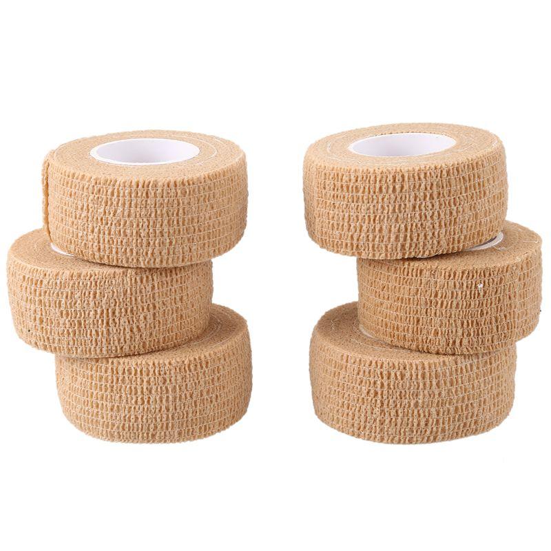 6 PCS First Aid Medical Self-Adhesive Elastic Bandage Tape (Skin, 2.5cm)