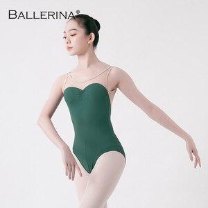 Image 4 - Adult tights dancewear ballet leotard women  open back dance leotardsgymnastics ballet costume Ballerina 5675