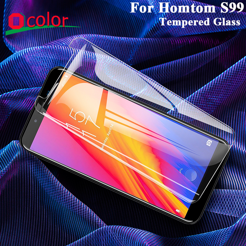 ocolor For Homtom S99 Tempered Glass Film Ultra-Thin Front Glass Screen Protector For Homtom S99 Mobile Phone Accessories(China)