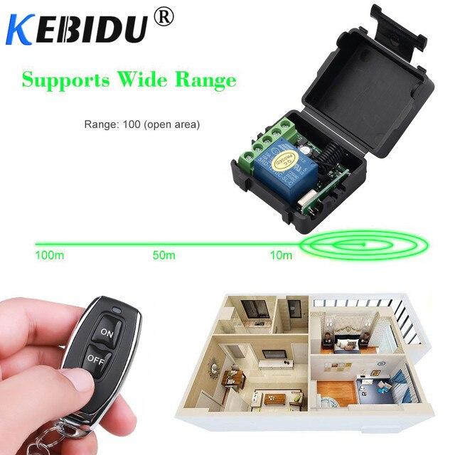 Kebidu 12V RF Sender Schalter 433Mhz Fernbedienungen Mit Wireless Fernbedienung Schalter Licht Relais Empfänger Modul 1PCS