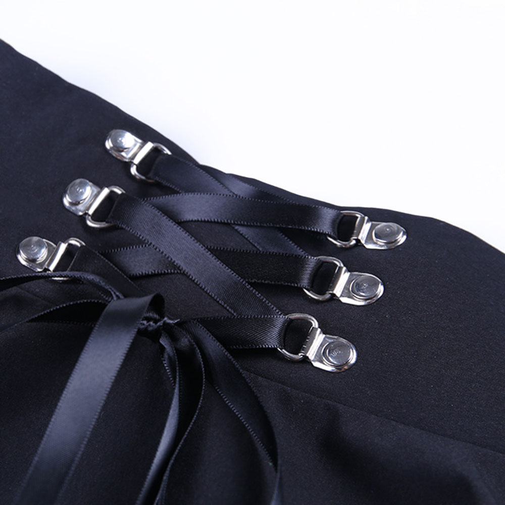 Dark Pleated School Girl Skirt  4