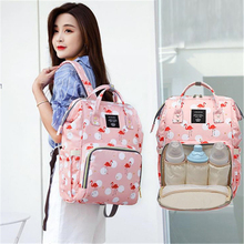 Get more info on the Flamingo Diaper Bag Portable Mummy Nappy Bag Large Capacity Pattern Backpack Nursing Bag for Baby Care Travel Bag