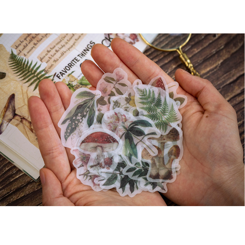 50pcs/pack Year Old Series Sulfuric Acid Paper Sticker Bag DIY Decorative Sealing Aesthetic Stickers Scrapbooking Stationery