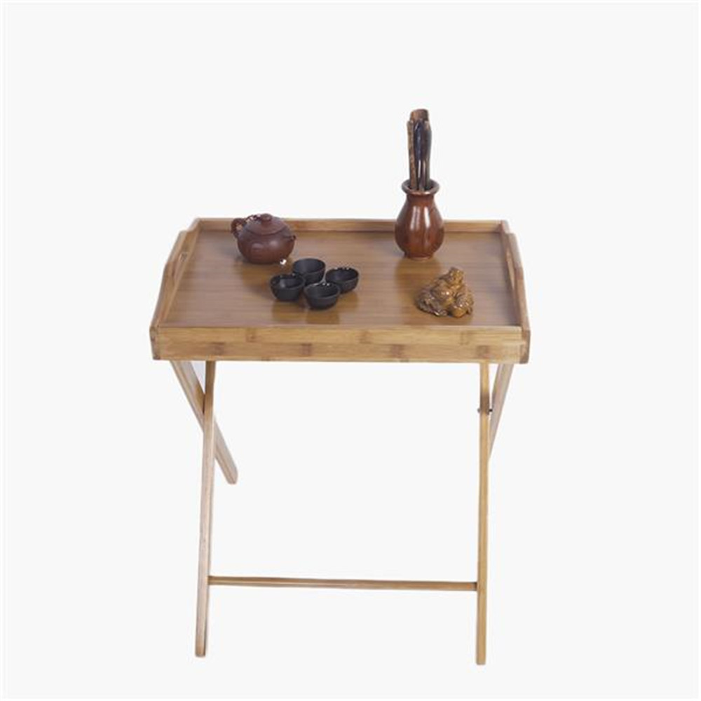 Flood Standing Folding Table Wood Color Small Side Table Portable Living Room Dining-table