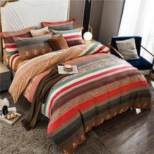 Lujo Vintage Bohemia ropa de cama corbatas cremallera edredón Twin Queen King size100 % algodón cepillado Ultra suave juego de cama sábana