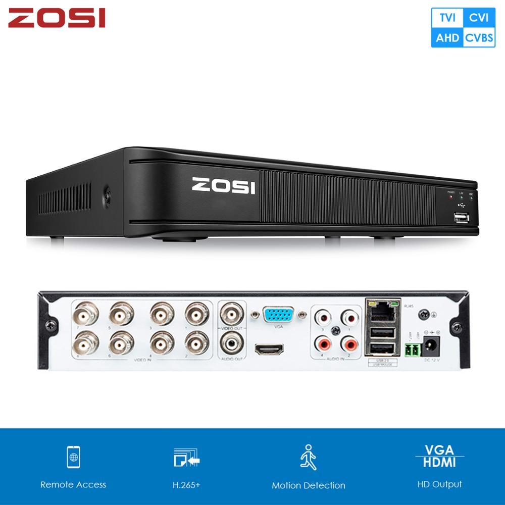 ZOSI 720P 1080N CVBS AHD CVI TVI 4-in-1 CCTV DVR Security DVR H.265 Digital Video Recorder HDMI Video Output Support Phone RS485