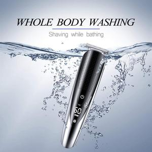Image 4 - עמיד למים מקצועי שיער גוזם זקן trimer גוף פנים שיער גוזז חשמלי שיער מכונת חיתוך תספורת גברים טיפוח