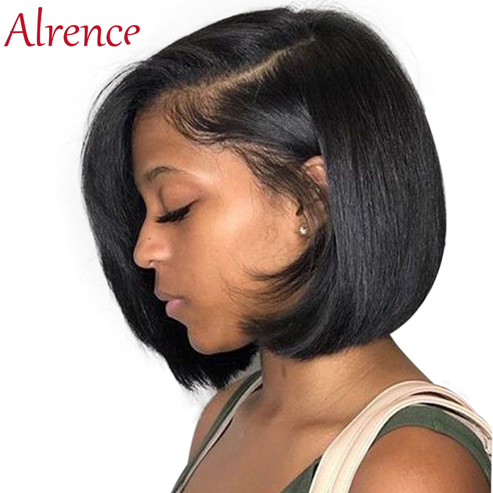 Omber 613 Lace Short Bob Wigs Peruvian Remy Hair Straight Lace Front Wig Lace Front Human Hair Wigs For Women Pre-Plucked