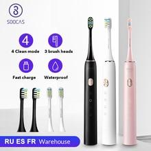 SOOCAS X3U سونيك فرشاة الأسنان الكهربائية فرشاة الأسنان ل شاومي Mijia الترا سونيك التلقائي ترقية سريعة قابلة للشحن الكبار مقاوم للماء