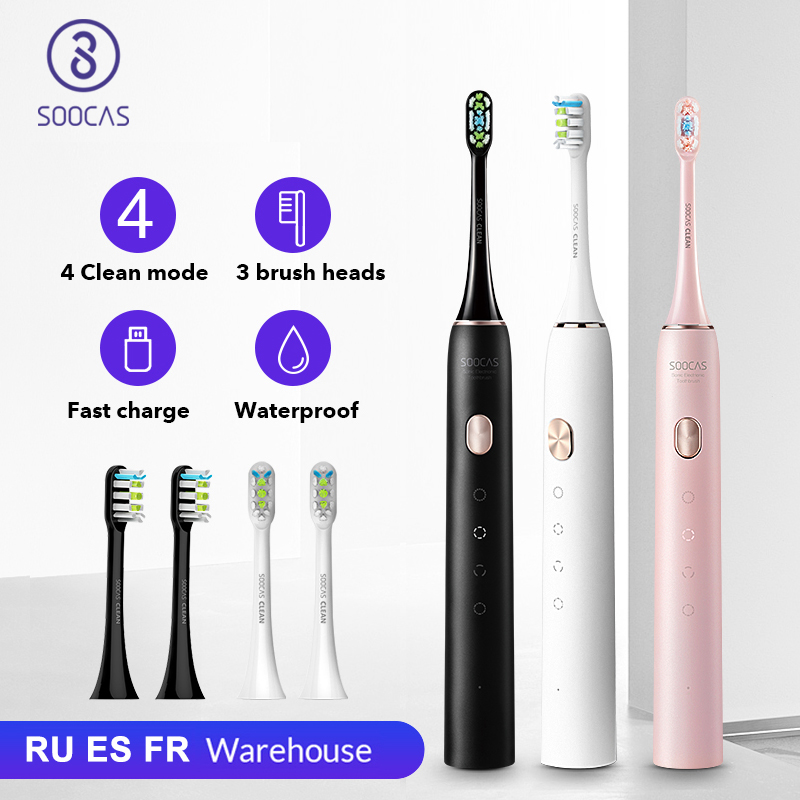 SOOCAS X3U Sonic Electric Toothbrush Smart Tooth Brush Ultrasonic Automatic Toothbrush USB Fast Rechargeable Adult Waterproof|Electric Toothbrushes| - AliExpress