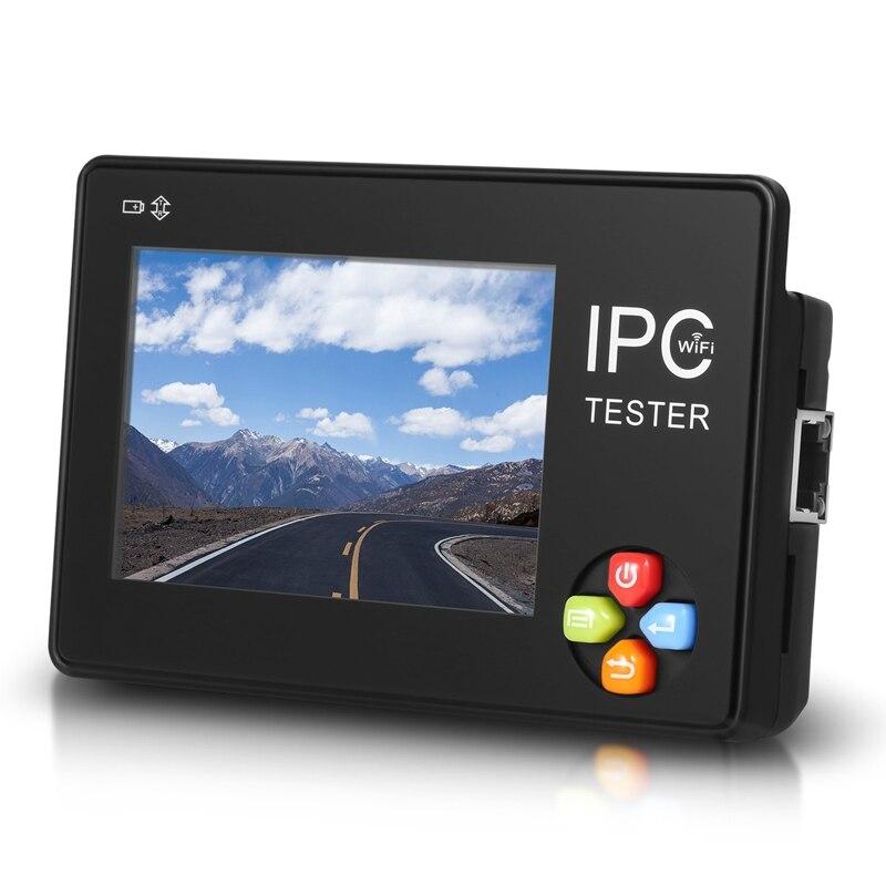 Appareil de contrôle capacitif de télévision en circuit fermé d'appareil-photo d'ip d'écran de presse de Hd de 3.5 pouces avec la découverte 4K H.265/H.264/Cvbs/Cvi/Tvi/Ahd/Ip/O rapide
