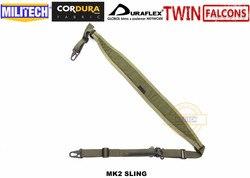 MILITECH TWINFALCONS TW 500D コーデュラ戦術ハンティング 2 2 点フェロ Slingster パッド入りモジュラー武器スリングライフル銃のストラップ