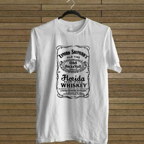 NEW LYNYRD T Shirt For Men SKYNYRD FLORIDA SOUR MASH WHISKEY LOGO WHITE TEE USA SIZE T-SHIRT EN1 image