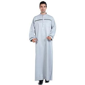 Image 5 - Männer Saudi Arabischen Männer Robe Dishdasha Thoub Moslemische Kleidung Langarm Kaftan Abaya Dubai Nahen Osten Islamischen Jubba Thobe Kleid neue