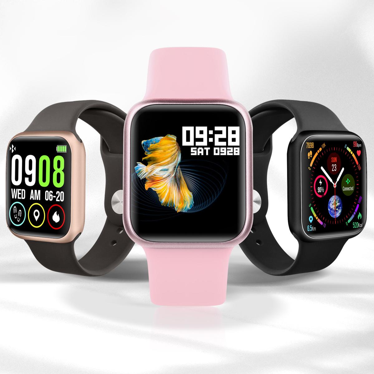 P90 Smart Watch 38mm Full Touch Fitness Tracker IP68 Waterproof Wireless Charging Sports Smartwatch PK Apple Watch P68 P70 Pro