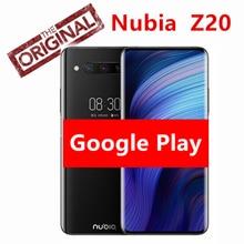 "Global Versie Nubia Z20 8Gb Ram 128Gb Rom Zwart Dual Screen 6.42 ""+ 5.1"" Snapdragon 855 plus Octa Core 4000Mah Triple Achter 48MP"