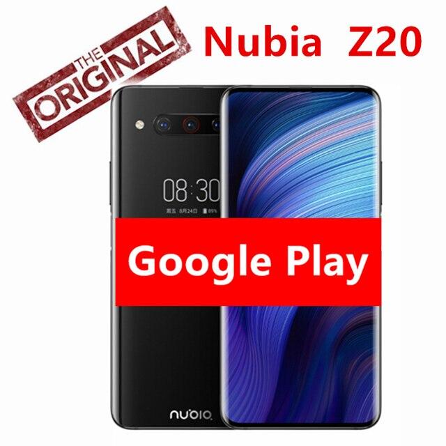 """Globale Versione Nubia Z20 8GB di RAM 128GB di ROM Nero A Doppio Schermo 6.42 """"+ 5.1"""" Snapdragon 855 più Octa core 4000mAh Triple Posteriore 48MP"""